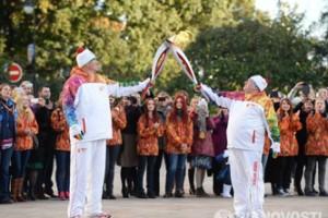 Эстафета Олимпийского огня в Москве!