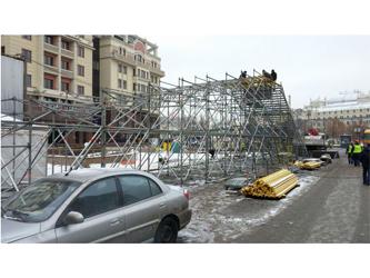 Горка на площади Революции